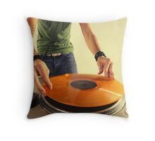 cool urban dj close-up  Throw Pillow