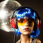 plastic headphone disco girl  by dubassy
