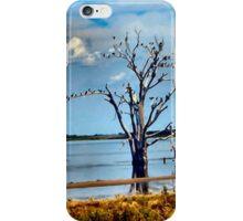 Birds Flocking Tree in Lake iPhone Case/Skin