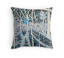 'THE MOON GRANTS SHADOWS TO WOODS THAT SING'   Throw Pillow