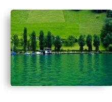 Green Lake Locarno (Swiss)  VRS2 Canvas Print