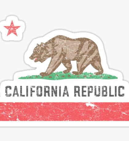 Vintage California Flag Sticker