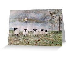 Sssssh !  It's sheep Greeting Card