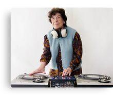 granny DJ! Canvas Print