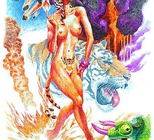 Fire ( Tiger lady ) by jatujeep