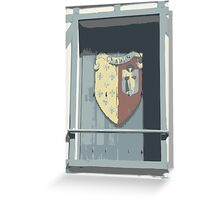 Shuttered Window in Chablis, France Greeting Card