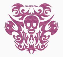 skull tattoo pink Kids Clothes