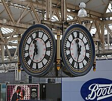 Waterloo Railway Station Clock London SE1 by Keith Larby