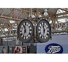 Waterloo Railway Station Clock London SE1 Photographic Print