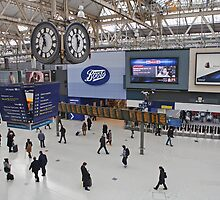 Waterloo Railway Station  London SE1 by Keith Larby
