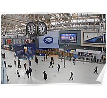 Waterloo Railway Station  London SE1 Poster