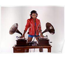sexy gramophone dj Poster