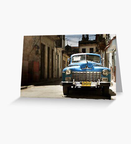 car in havana Greeting Card