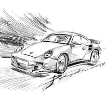 porsche sketch by jatujeep