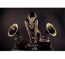 sexy gramophone dj Photographic Print