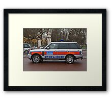 Police Car outside Buckingham Palace Framed Print