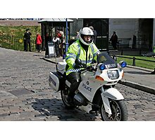 Police Motor Bike, BMW, outside the Tower of London Photographic Print