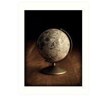 Moon Globe Still Life Art Print