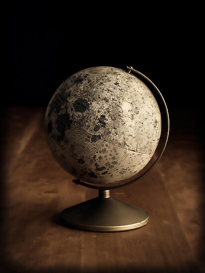 Moon Globe Still Life by Edward Fielding