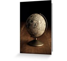 Moon Globe Still Life Greeting Card