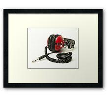 classic retro headphone Framed Print