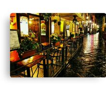 A Cafe in Florence Canvas Print