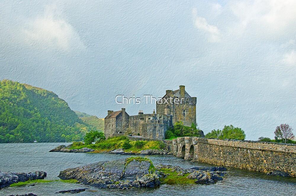 Eilean Donan Castle Textured 2 by Chris Thaxter