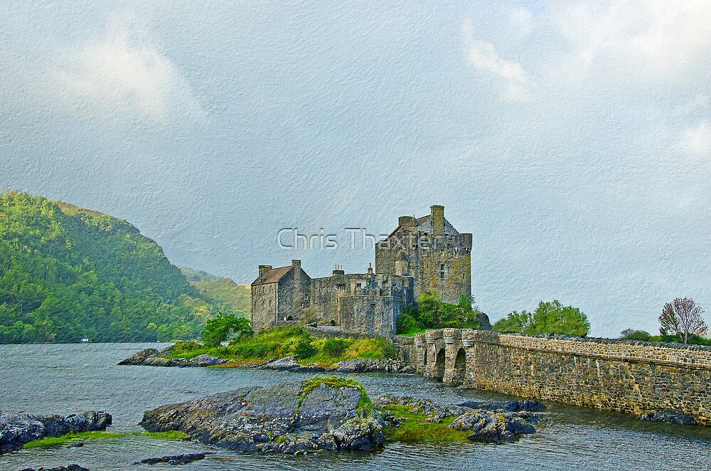 Eilean Donan Castle Textured 2 by Chris Thaxter