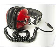 classic retro headphone Poster