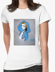 Princess Leia Graffiti Womens Fitted T-Shirt