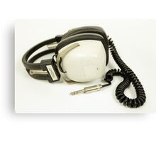classic retro headphone Canvas Print