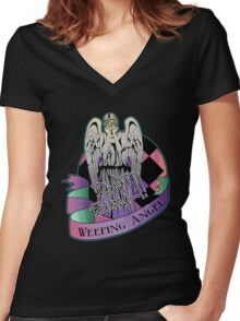 Weeping Angel Women's Fitted V-Neck T-Shirt
