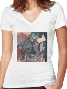 Baroque Dance Flight Women's Fitted V-Neck T-Shirt