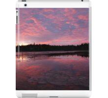 Reflected sunrise on the shore iPad Case/Skin