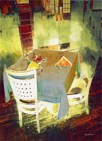 Table at the Fauve Cafe by RC deWinter
