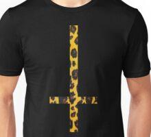 90's Grunge Gothic Leopard Print Upside Down Antichrist Cross Unisex T-Shirt