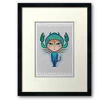 scorpio zodiac sign Framed Print