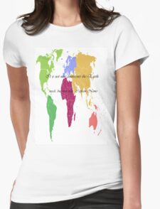 Continents and Men Womens Fitted T-Shirt