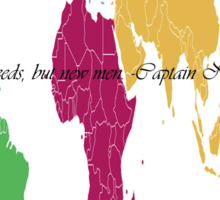 Continents and Men Sticker