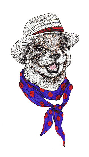 The Happy Otter by kirstenmcnee