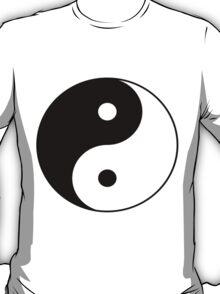 90's Grunge Hippie Peace Black and White Ying Yang Symbol T-Shirt