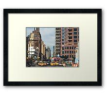 NYC 7th Avenue North Framed Print