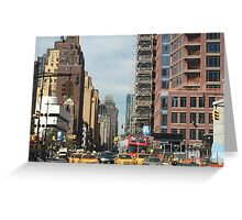 NYC 7th Avenue North Greeting Card
