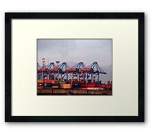 Hamburg Container Harbor (Germany) VRS2 Framed Print