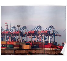 Hamburg Container Harbor (Germany) VRS2 Poster