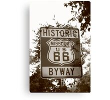 Route 66 Shield in Missouri Canvas Print