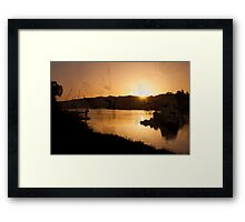 protecting the nile Framed Print