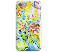 Birth of the Circle - Abstract Acrylic Canvas Painting iPhone Case/Skin