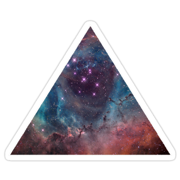 90'S Grunge Nebula Galaxy Space Triangle Pattern  by wakpowwallop