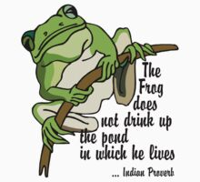 "Earth Day ""The Frog Does Not Drink Up The Pond In Which It Lives"" Kids Clothes"